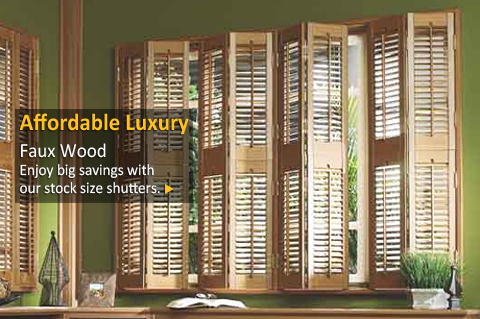 Faux Wood Plantation Shutters